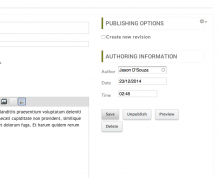 Save button on the edit topic form